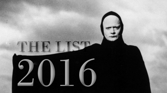 2016: The List